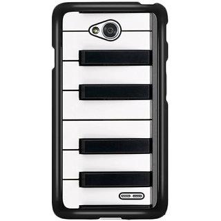 Flashmob Black 2D Printed Back Cover for LG L70 2D-BLACK-LGL70-1459