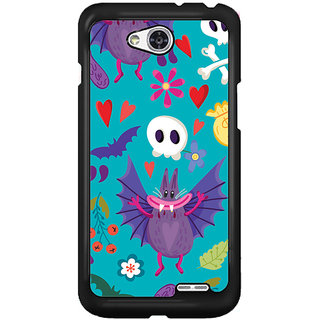 Flashmob Black 2D Printed Back Cover for LG L90 2D-BLACK-LGL90-1219