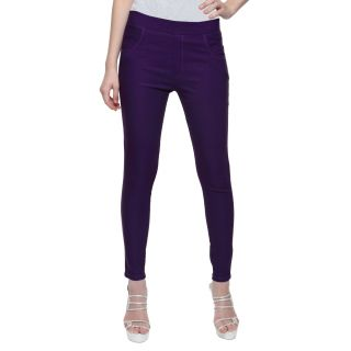 Wajbe Women Purple Color Jegging