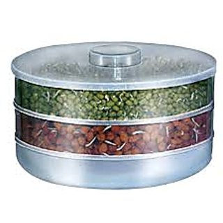 Amiraj Plastic Healthy Sprout Maker With 3 Compartments