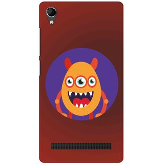Snooky Digital Print Hard Back Case Cover For Intex Aqua Power Plus