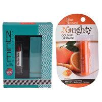 Mintz Glossy Lipstick (Tempting Red)  Naughty Color Lip Balm (Orange)