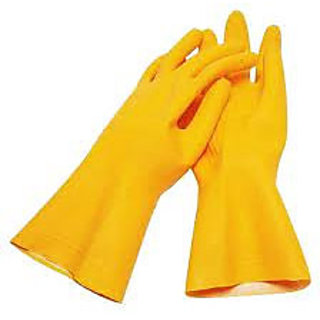 Safety Hand Gloves with yellow colour