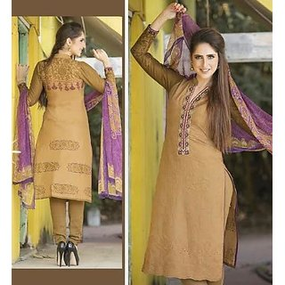 Cotton Lawn Self Embroidered Suits