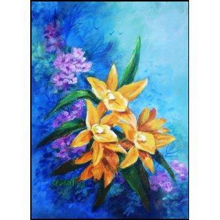handmade painting yellow flower