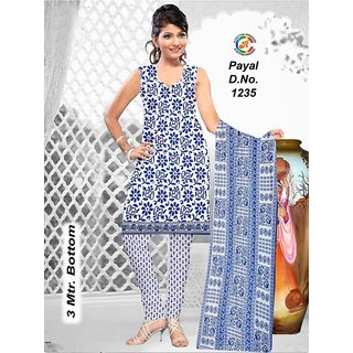 Cotton Dress Material With Matching Dupatta