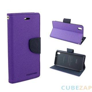 sony xperia E4 flipcover purple