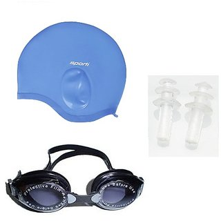 532dd589d65d51 Buy Swimming Combo (Ear Swimming Cap + Eye Cover + Ear Pin) Online ...