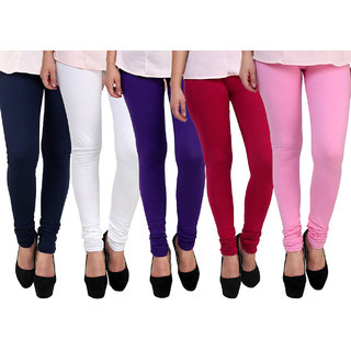 FnMe Girls Leggings - set of 5