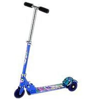 Kids Scooty Foldable Personal Mini Scooter blue