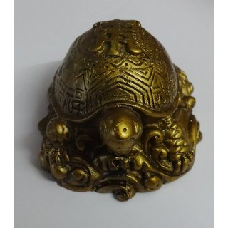 Feng Shui Tortoise on Bed of Wealth