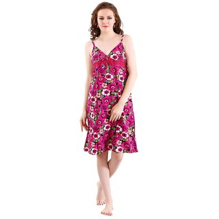 118c4ee8d9e Buy Romaisa Womens Satin Nighty (Baby Doll) Online - Get 33% Off