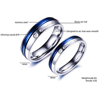 Yellow Chimes Steel Rhodium Ring Set