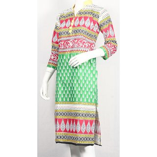 Swachh Women Cotton Causal Regular Kurti in Multi Color