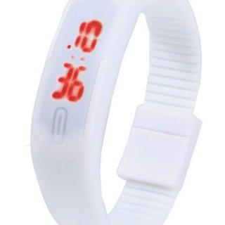 Prushti White Color Digital Watch