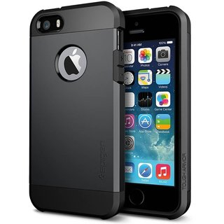 Spigen Silicone Bumper Back Cover for Apple iPhone 5s / 5 (Black)