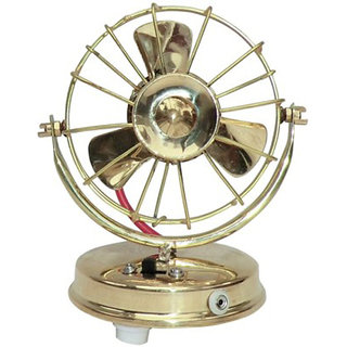 Glori-fyi Brass Antique Handcrafted Fan Showpiece