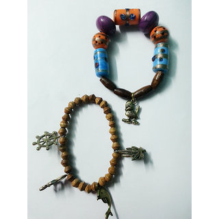 Pair of handmade beads bracelete..