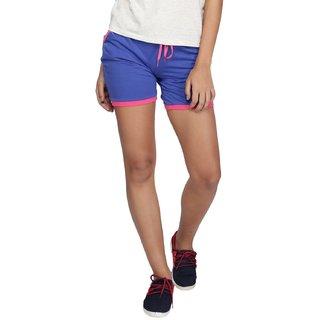 Vishal Mega Mart Blue Cotton Solid Short For Women