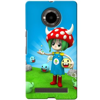 Snooky Digital Print Hard Back Case Cover For Micromax Yu Yunique