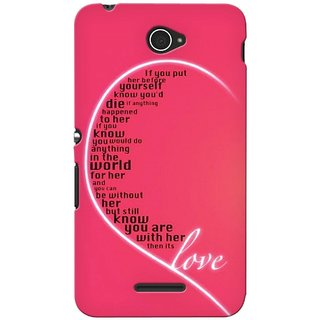 Snooky Digital Print Hard Back Case Cover For Sony Xperia E4