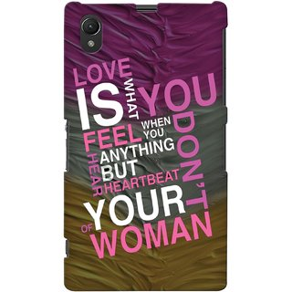 Snooky Digital Print Hard Back Case Cover For Sony Xperia Z1