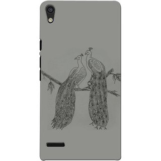 Snooky Digital Print Hard Back Case Cover For Huawei Ascend P6