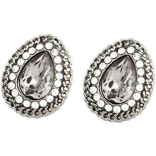 Glamour Teardrop Earrings (Silver)