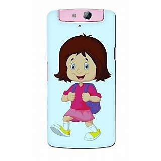 Snooky Digital Print Hard Back Case Cover For Oppo N1 mini