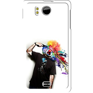 Snooky Designer Print Hard Back Case Cover for Micromax Canvas Doodle A111