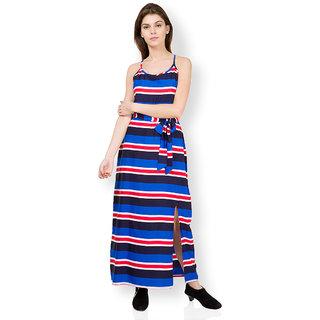 7821deb4b Buy Tokyo Talkies Blue Printed A Line Dress For Women Online   ₹600 ...