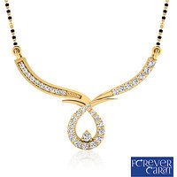 Forever Carat's Artistic Diaond Mangalsutra In 14 Kt. Gold (Design 2)