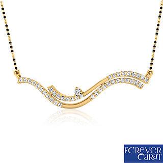 Forever Carat's Artistic Diaond Mangalsutra In 14 Kt. Gold (Design 1)