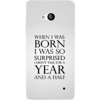 Casotec Quote Design Hard Back Case Cover for Microsoft Lumia 550