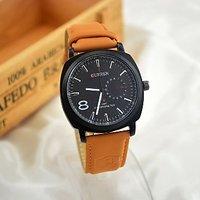 CURREN Mens Fashion Sport Watches Men Military Leather Band Quartz Wrist Watch