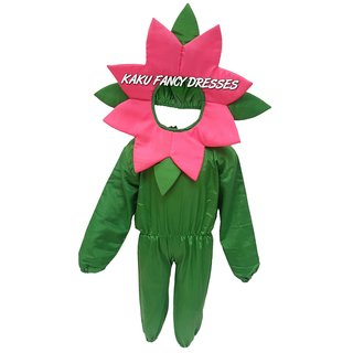 KFD-Mazanta flower fancy dress for kids,Nature Costume for annual function/theme party /Stage Shows/competition/Birthday Party Dress