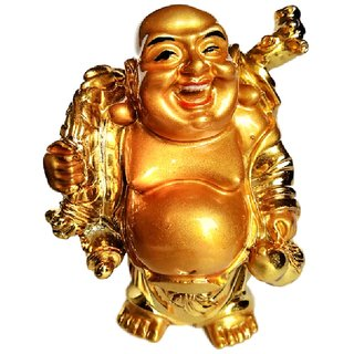 Standing Laughing Buddha With Sack - 9 cms Height