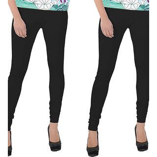 Legemat Black and Black Leggings For Girls Pack of 2