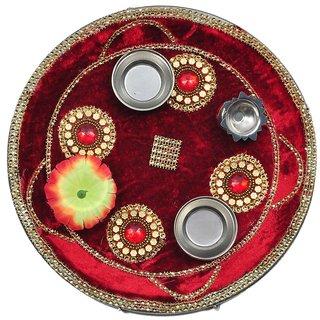 Shadi Bazaar Decorative Pooja Thali-SBPTH002
