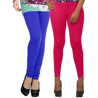Legemat Blue and Pink Leggings For Girls Pack of 2