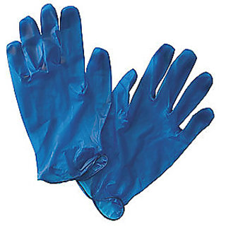 Disposable Gloves With Blue Colour