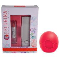 Florina Glossy Lipstick (Red Cherry)  Lip Balm Strawberry (8 GM)