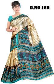 SVB Multicolor Cotton Block Print Saree Without Blouse