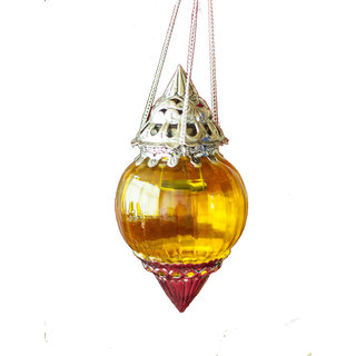 Hanging Brass Yellow Melon T-Light Holder