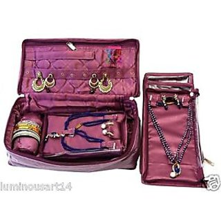 Atorakushon Jewellery Jewelry Pouch Necklace Earrings Tops Stud Half Set Bangle Bag Box Case