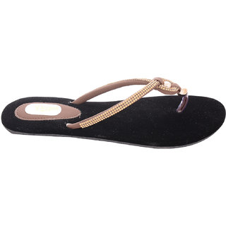 Beautiful Black Color velvet Women Flats From the house of Radiant