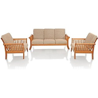 Solid Wood 3 1 Sofa Set