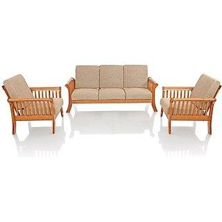 Solid Wood 3 + 1 + 1 Sofa Set