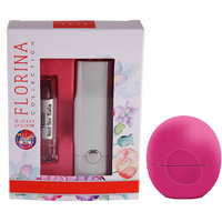 Florina Glossy Lipstick (Pretty Purple)  Lip Balm Bubble Gum (8 GM)