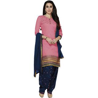 Style Mania Pink Cotton Salwar Kameez  SMDMKHV14356